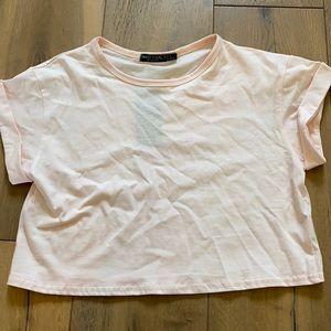 NastyGal cropped T-shirt